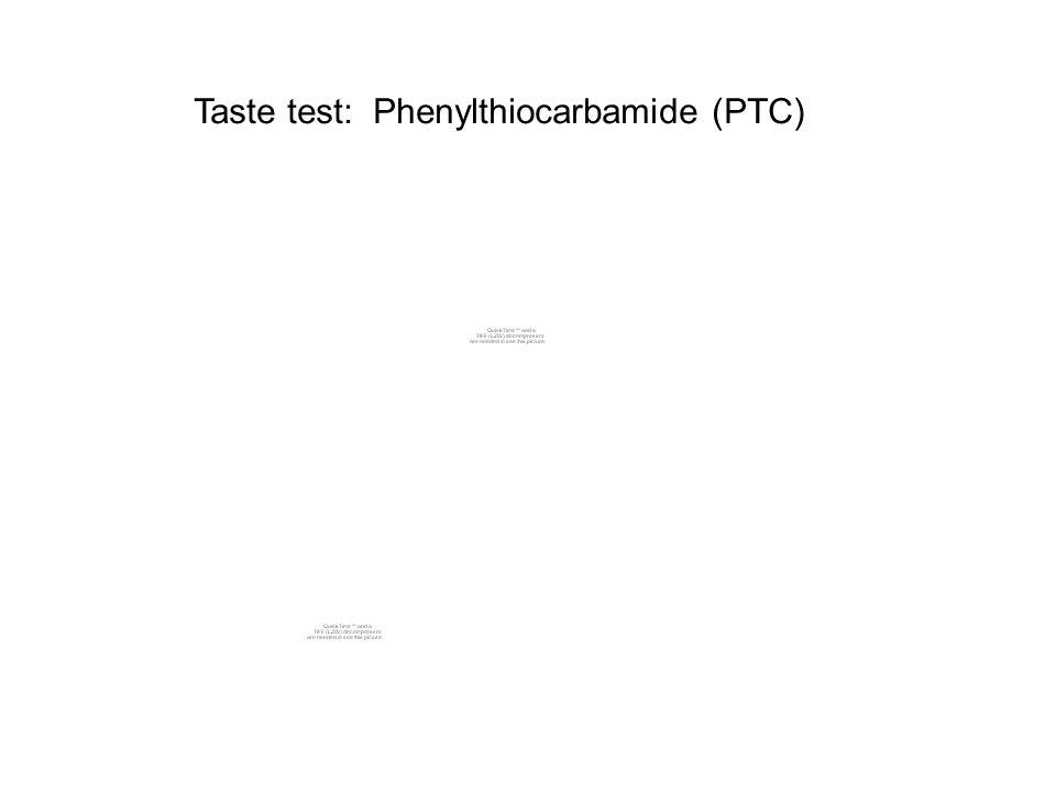 Taste test: Phenylthiocarbamide (PTC)