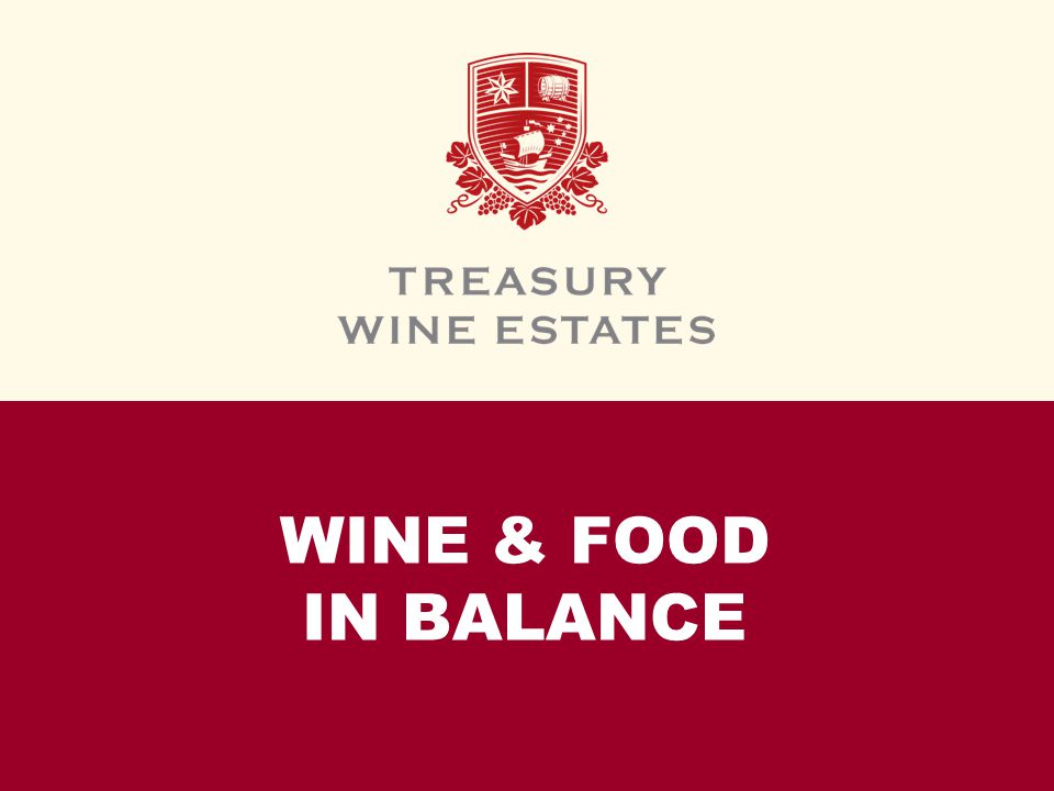 WINE & FOOD IN BALANCE