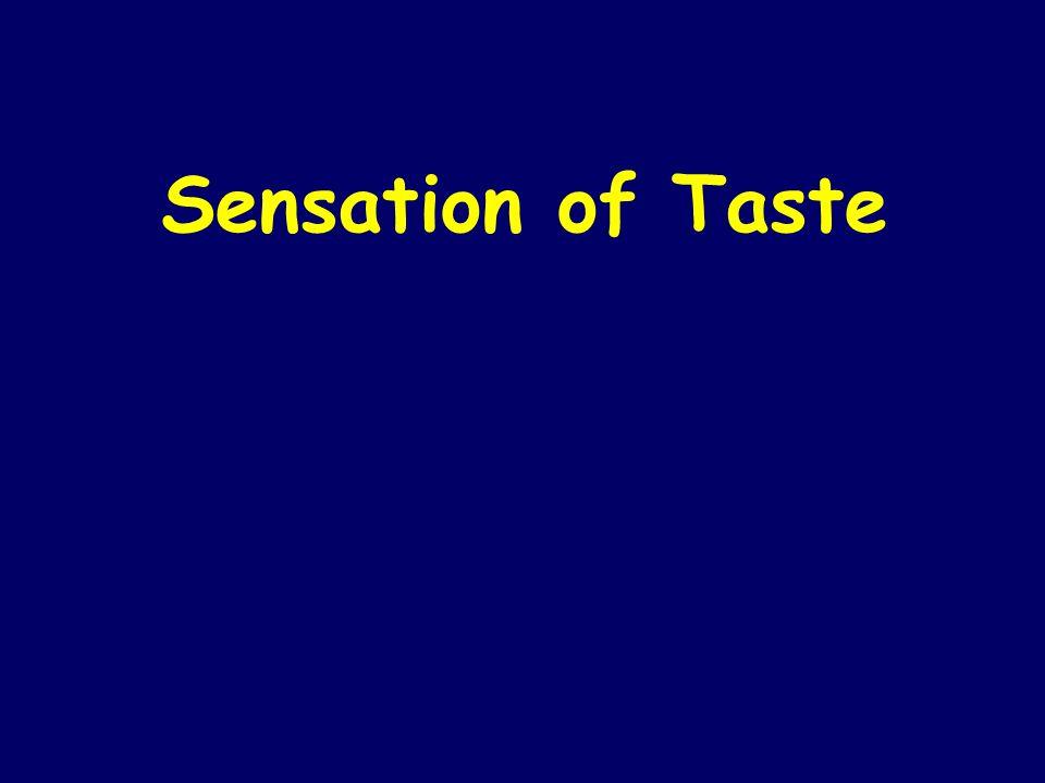 Sensation of Taste