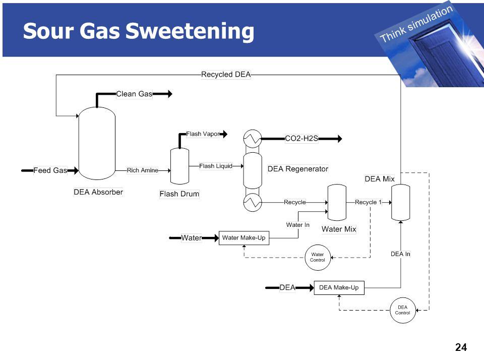 THINK SIMULATION Think simulation 24 Sour Gas Sweetening