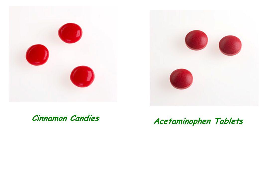 Cinnamon Candies Acetaminophen Tablets