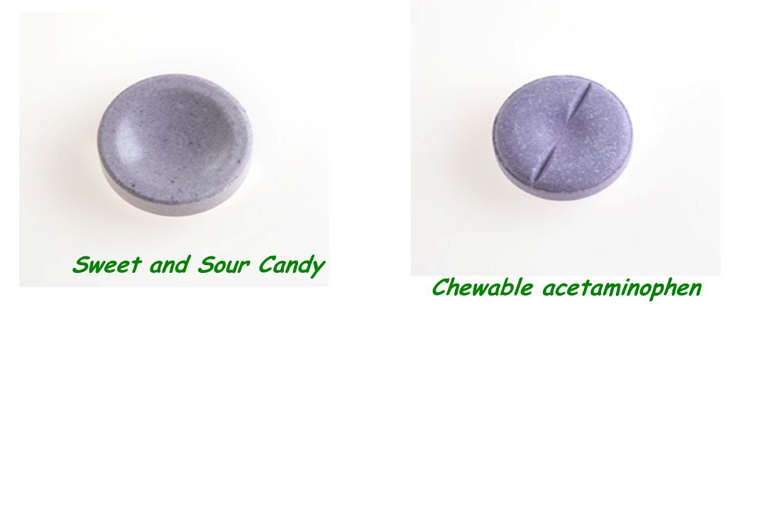 Sweet and Sour Candy Chewable acetaminophen