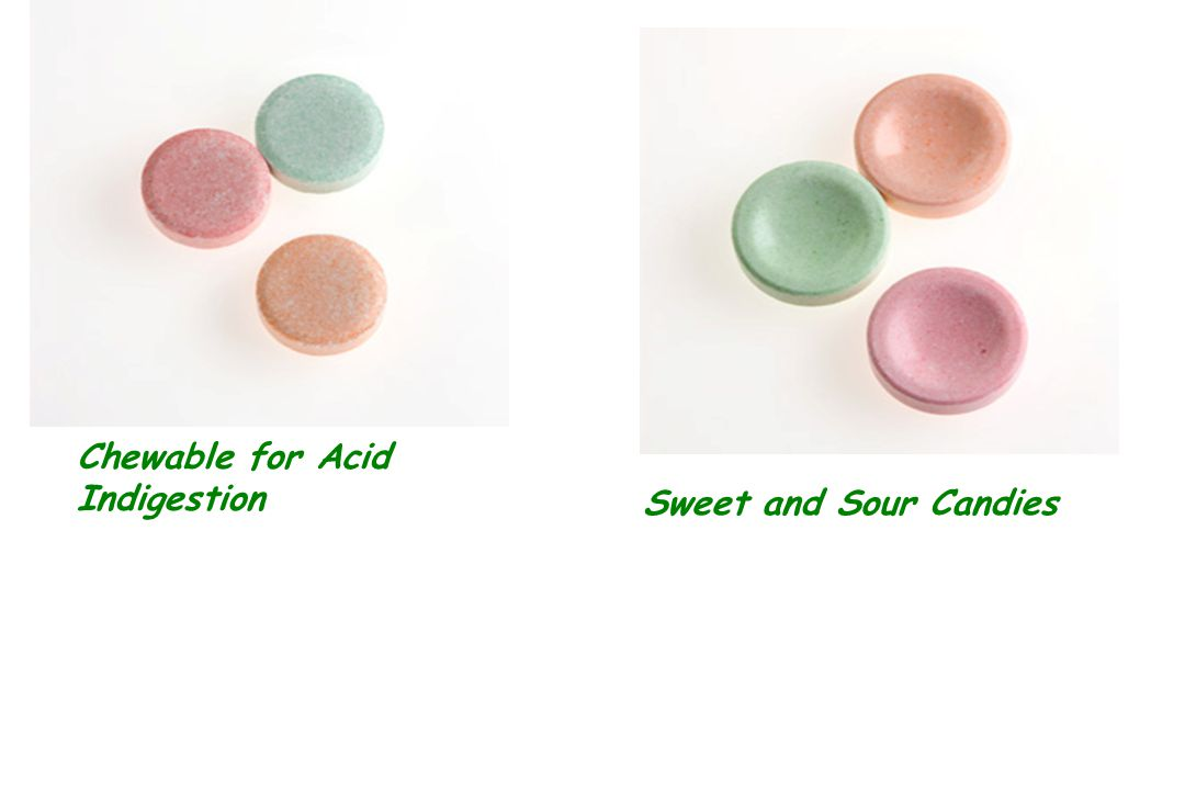 Chewable for Acid Indigestion Sweet and Sour Candies