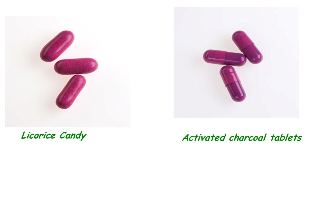 Licorice Candy Activated charcoal tablets