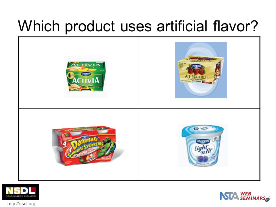 Which product uses artificial flavor http://nsdl.org