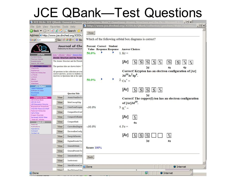 JCE QBank—Test Questions
