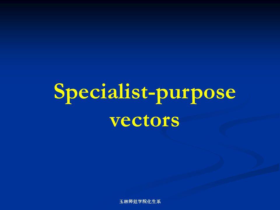 玉林师范学院化生系 Specialist-purpose vectors