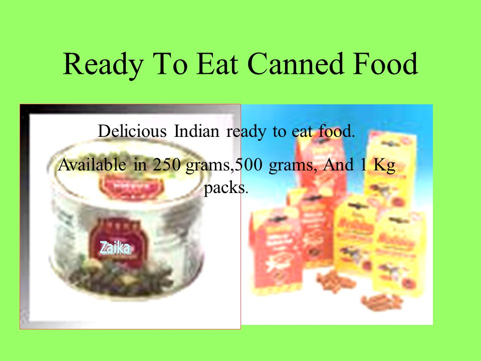 Ready To Eat Canned Food Delicious Indian ready to eat food.