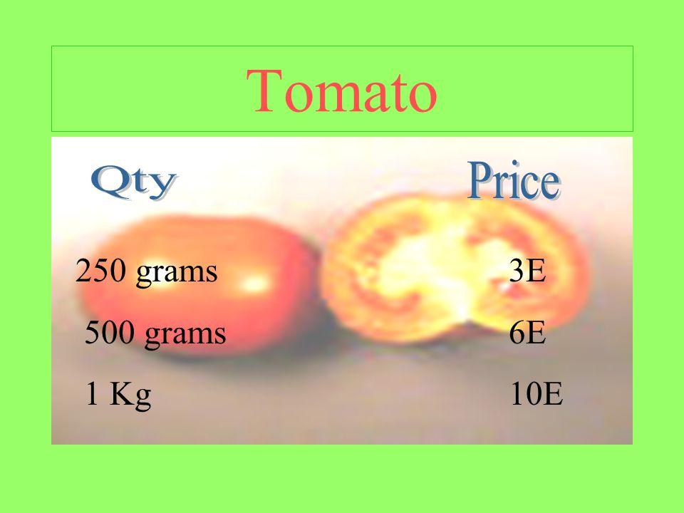 Tomato 250 grams 500 grams 1 Kg 3E 6E 10E