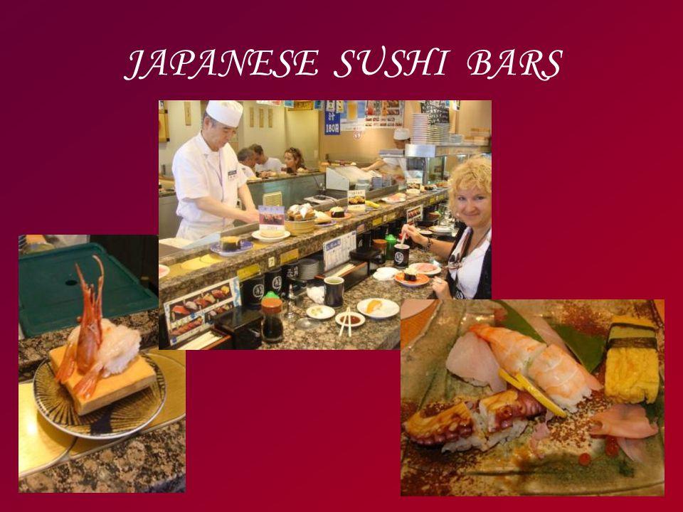 JAPANESE SUSHI BARS