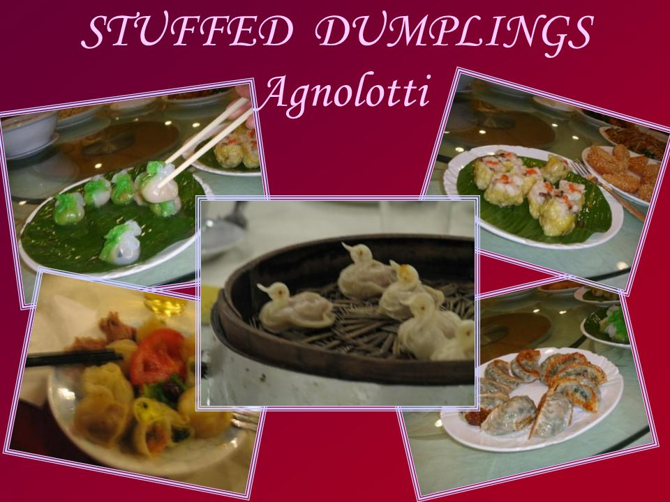 STUFFED DUMPLINGS Agnolotti