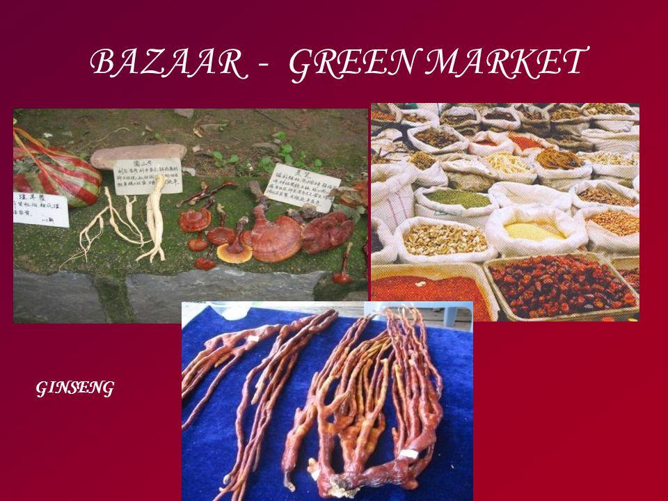 BAZAAR - GREEN MARKET GINSENG