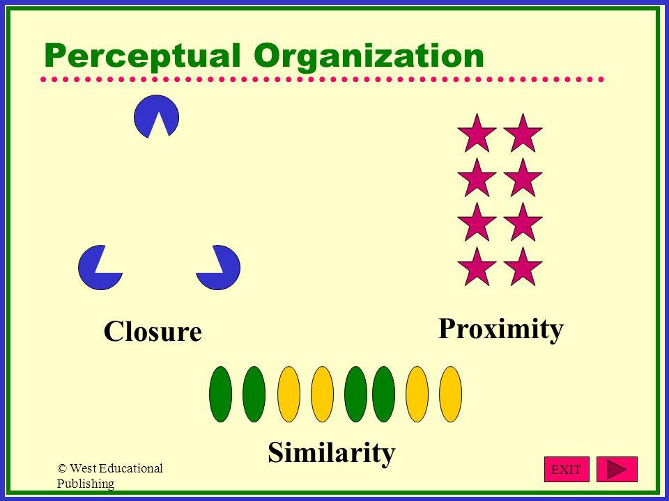© West Educational Publishing Closure Proximity Similarity Perceptual Organization EXIT