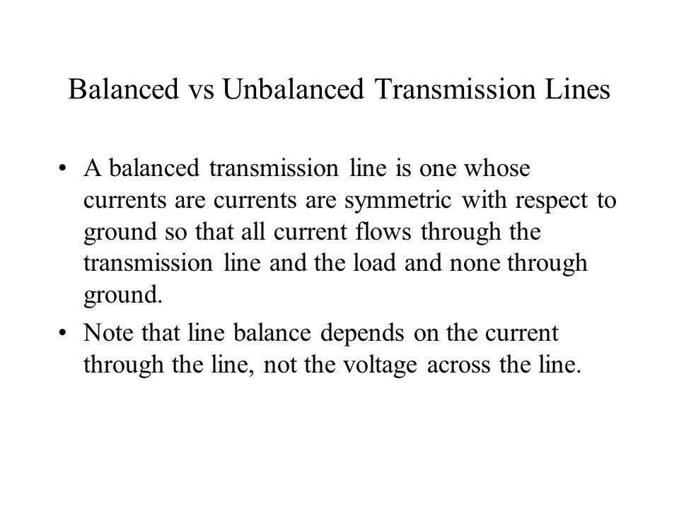 An example of a Balanced Line Here is an example of a balanced line.