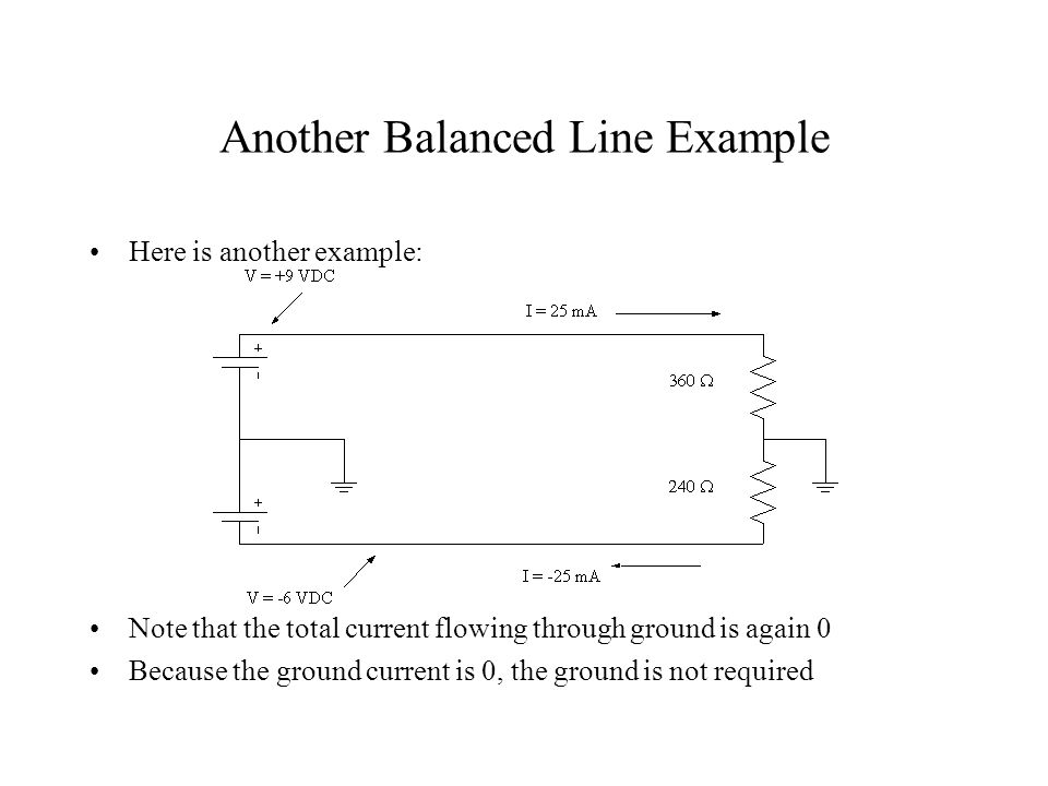 Another Balanced Line Example Here is another example.