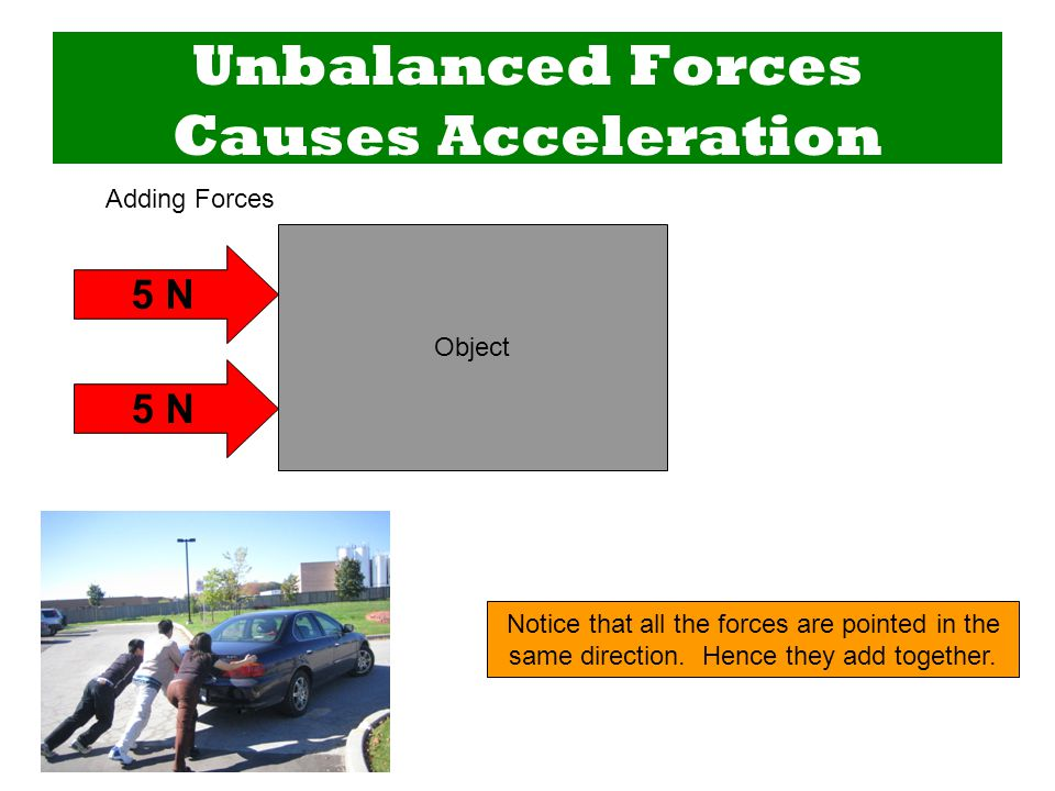 Adding Forces Two forces can add together to produce a larger net force than either original force.