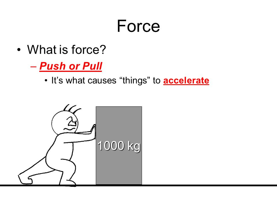 Newton's Law of Motion says: In order to move an object with mass, you need to apply a force The greater the mass = The greater inertia => more force is needed