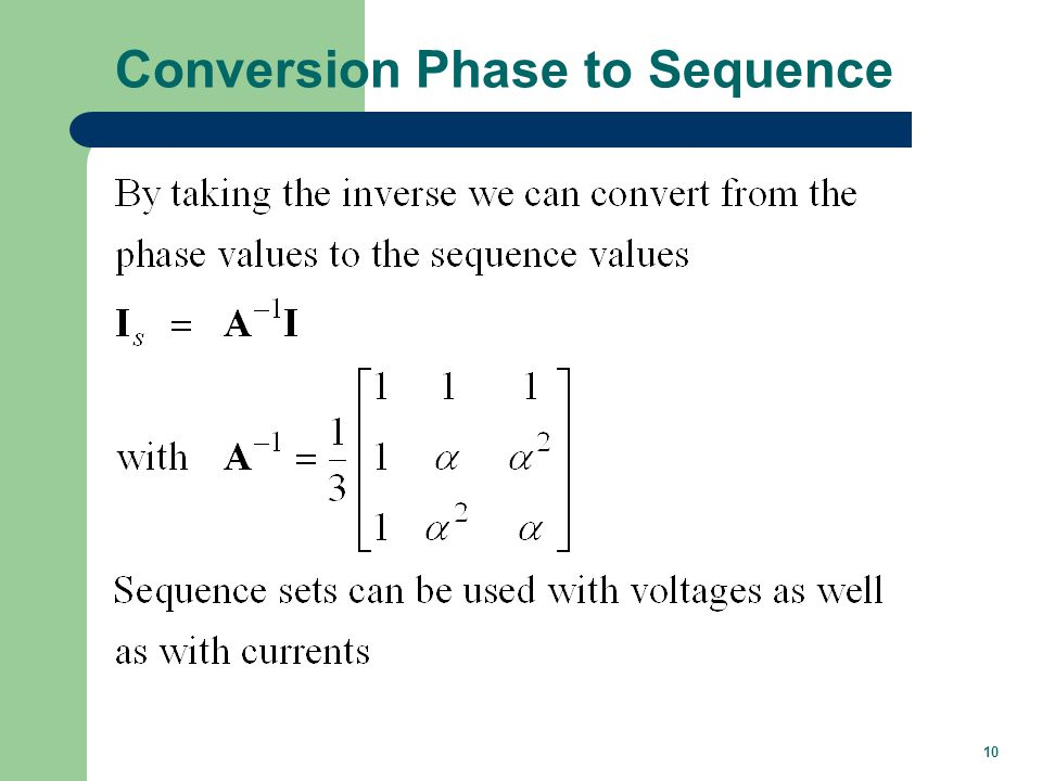 10 Conversion Phase to Sequence