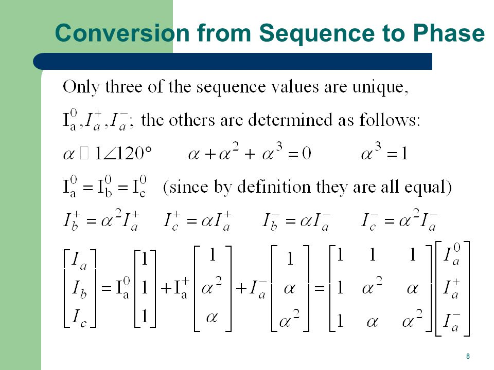 8 Conversion from Sequence to Phase