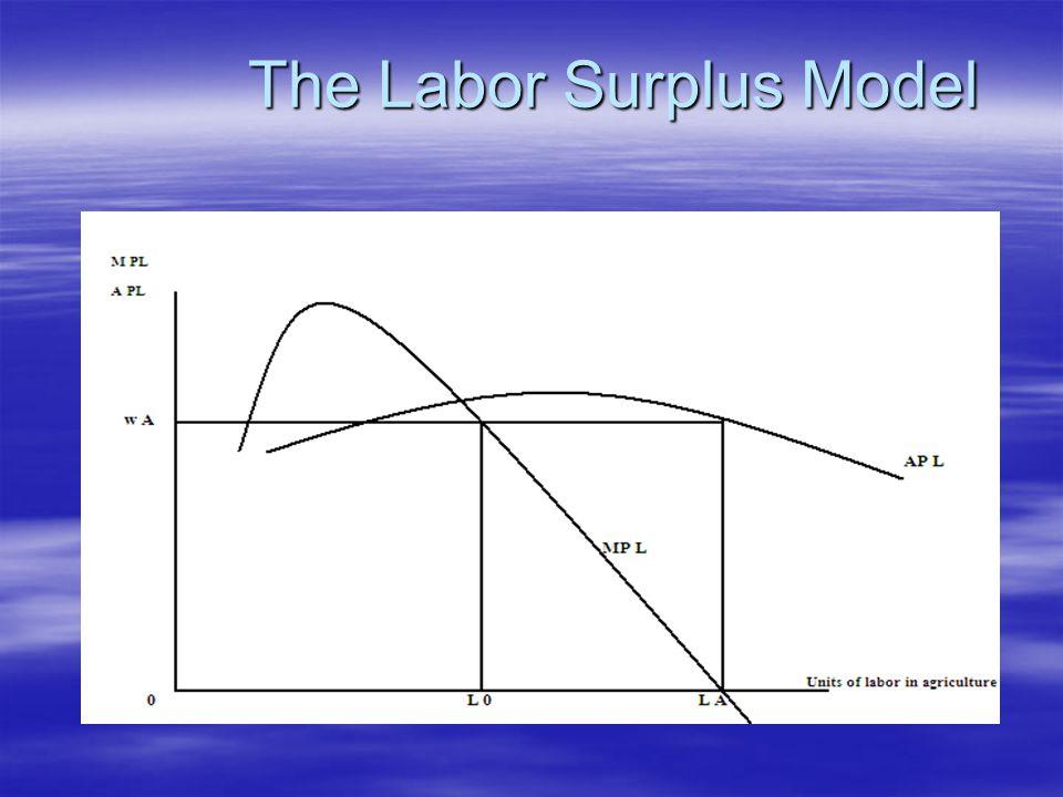 The Labor Surplus Model The Labor Surplus Model