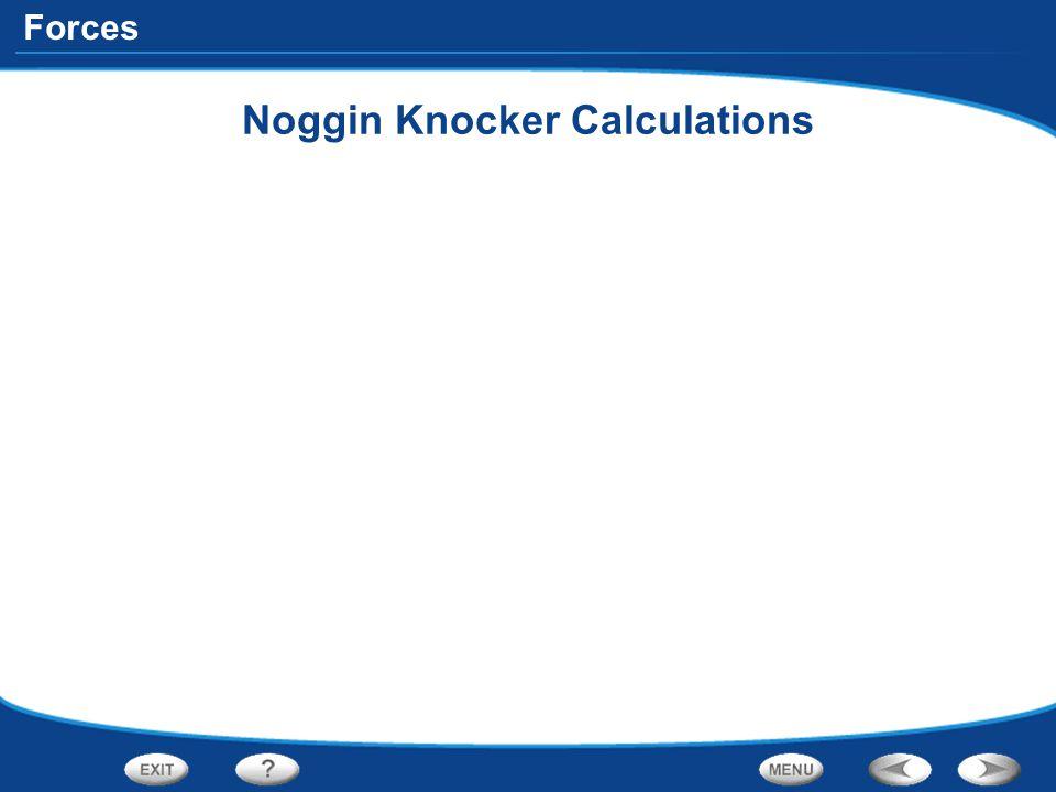 Forces Noggin Knocker Calculations