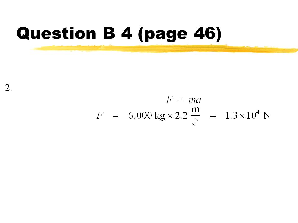 Question B 4 (page 46)