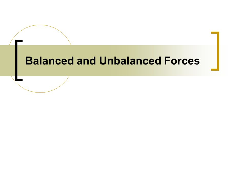 Balanced and Unbalanced Forces What is a force A force is an – Balanced and Unbalanced Forces Worksheet