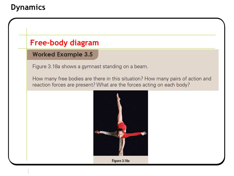 Section 2 | Newtonian Mechanics Dynamics Free-body diagram