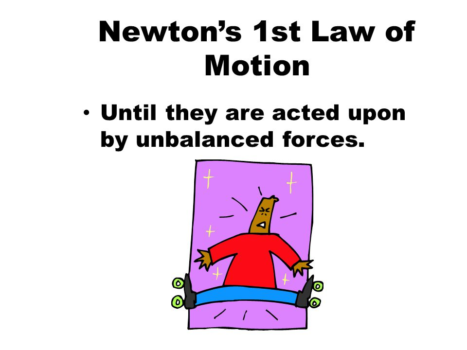 Newton's 1st Law of Motion And Objects at rest stay at rest