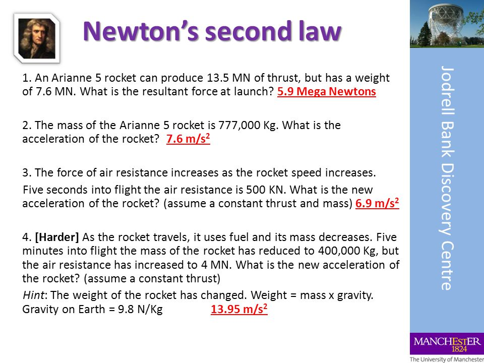 Newton's second law 1.