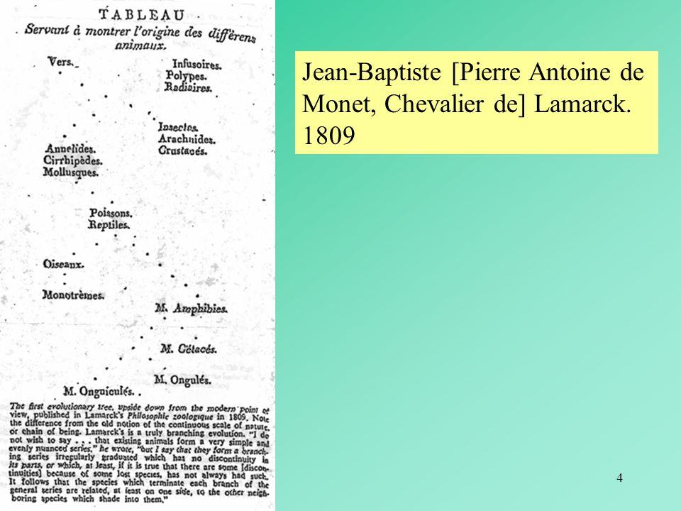 4 Jean-Baptiste [Pierre Antoine de Monet, Chevalier de] Lamarck. 1809