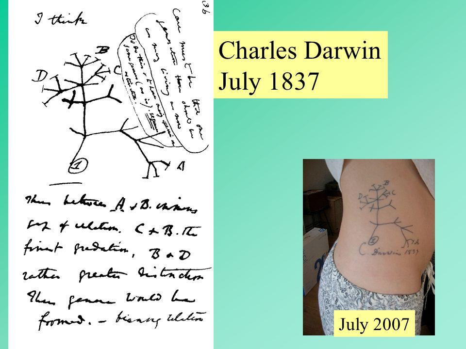 5 Charles Darwin July 1837 July 2007