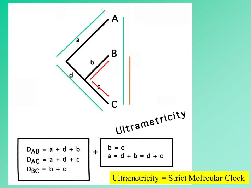 94 + Ultrametricity = Strict Molecular Clock