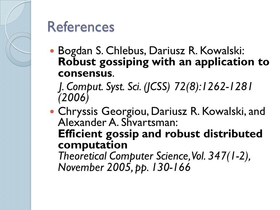 References Bogdan S. Chlebus, Dariusz R.