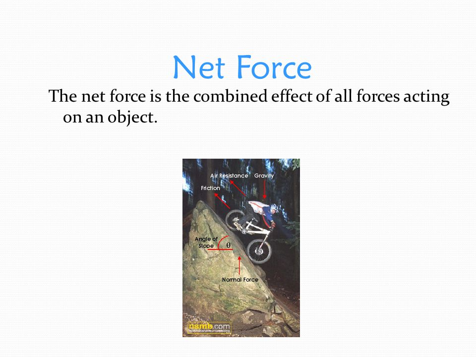 Force Balanced Forces  forces acting on an object that are opposite in direction and equal in size  no change in speed