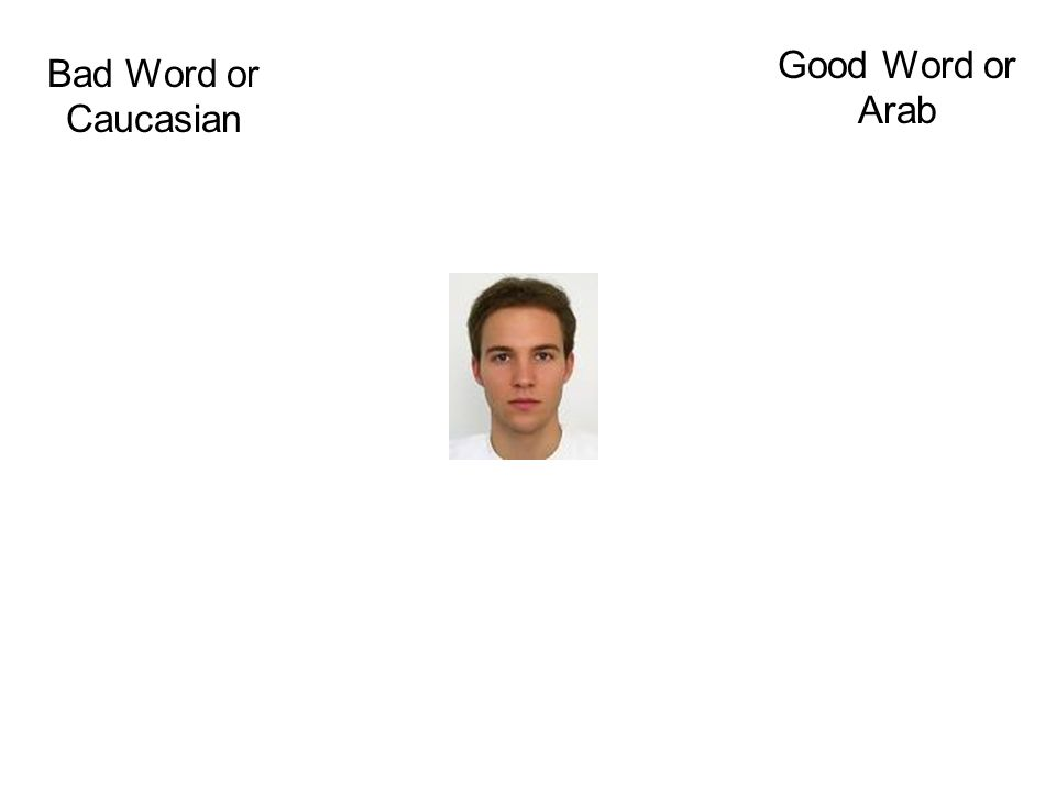 Bad Word or Caucasian Good Word or Arab