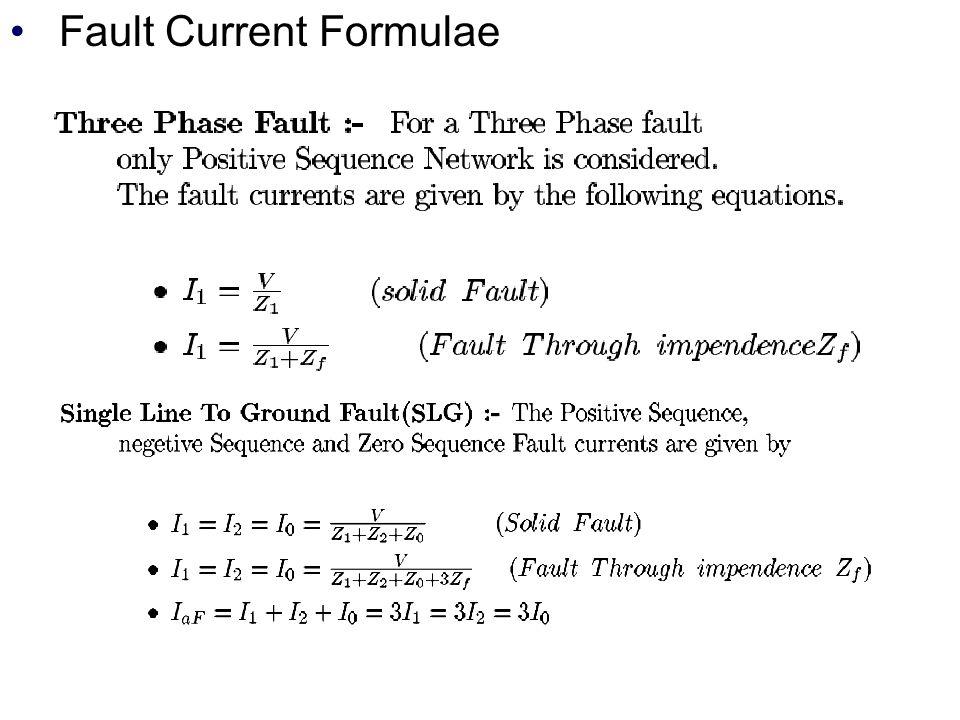 Fault Current Formulae