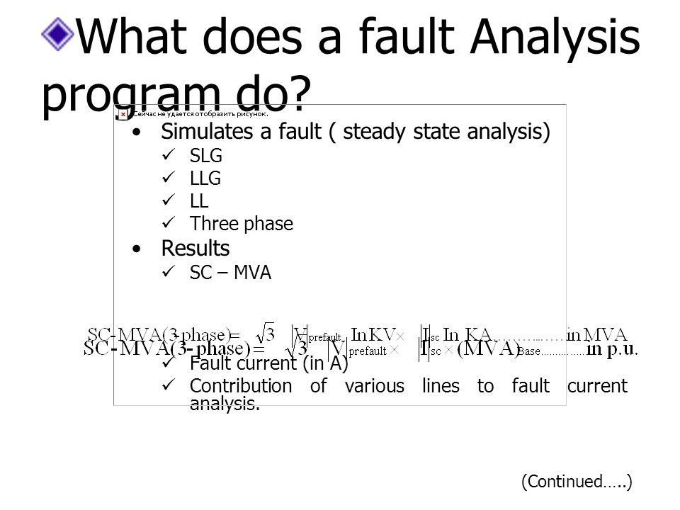 What does a fault Analysis program do.