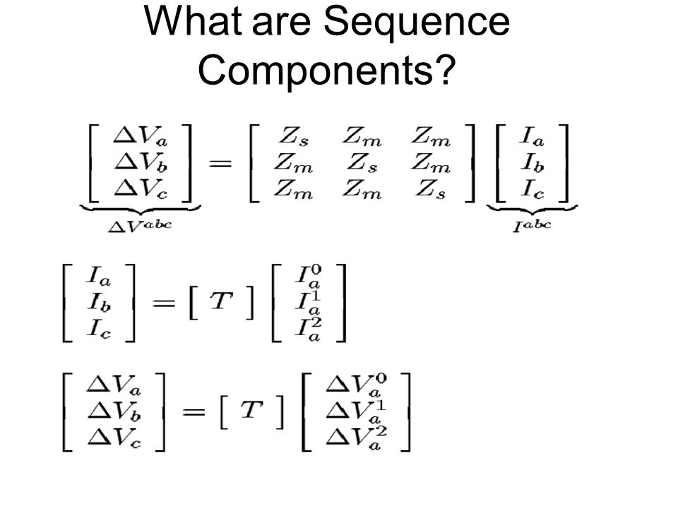 What are Sequence Components