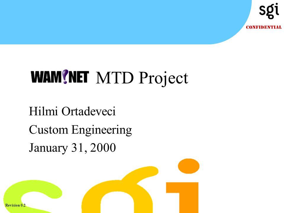 TM Revision 0.2 Hilmi Ortadeveci Custom Engineering January 31, 2000 MTD Project