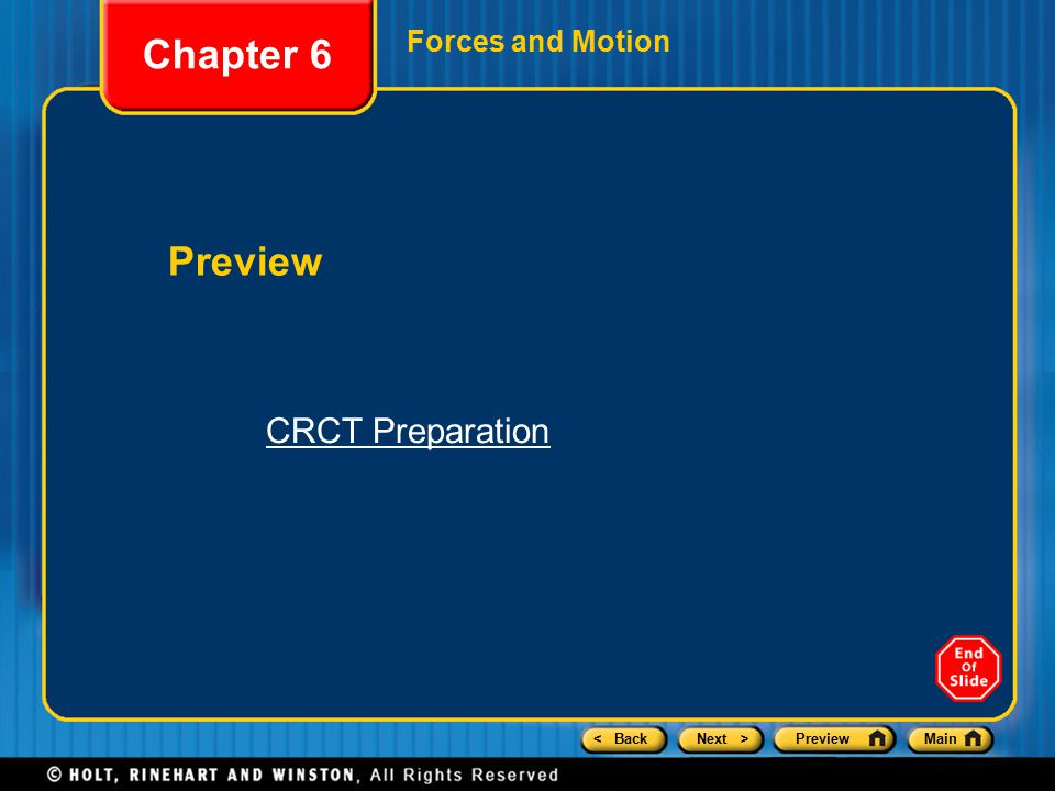 < BackNext >PreviewMain Chapter 6 CRCT Preparation 1.The table shows the accelerations produced when different forces act on a 5 kg mass.