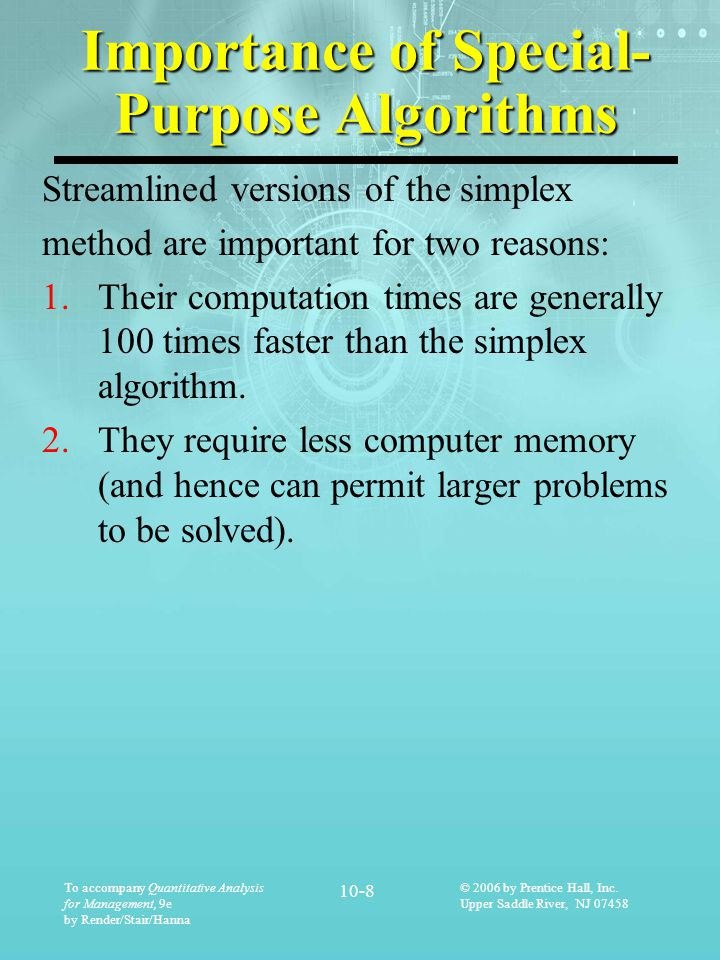 To accompany Quantitative Analysis for Management, 9e by Render/Stair/Hanna 10-29 © 2006 by Prentice Hall, Inc.
