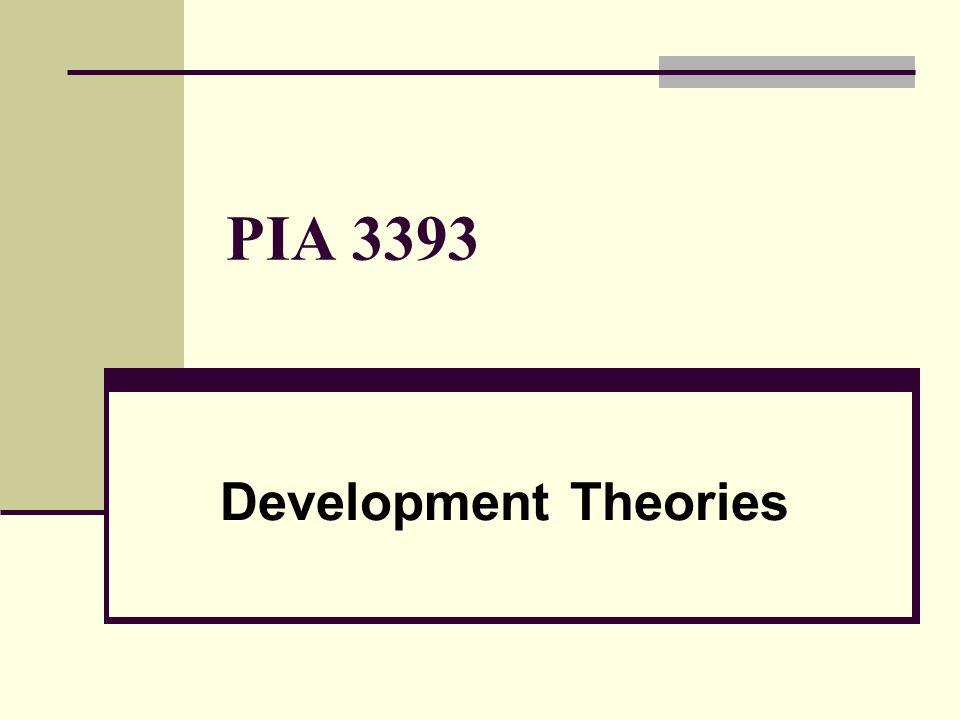 PIA 3393 Development Theories