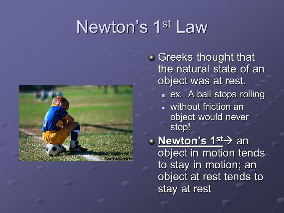 Which Law??? F=ma Inertia