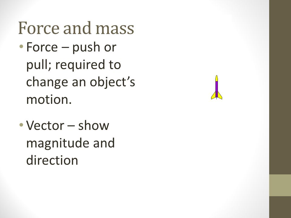 Equilibrium for stationary objects To find the force necessary to put something in equilibrium, first find the resultant.