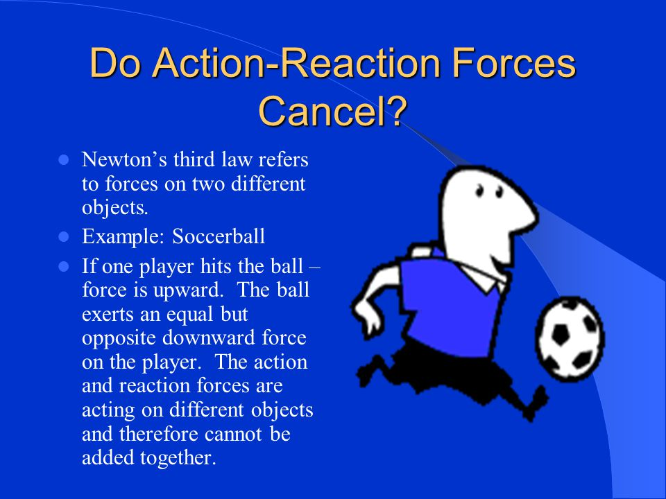 Action – Reaction In Action Walking – you push on ground and the ground pushes on you. Squid – Water jet