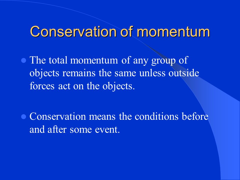 Momentum = mass x velocity A small mass can produce a large momentum if it is moving at a high velocity ie. Bullet.