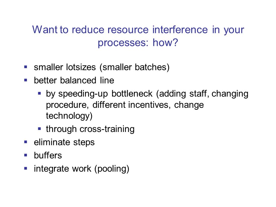 Want to reduce resource interference in your processes: how.