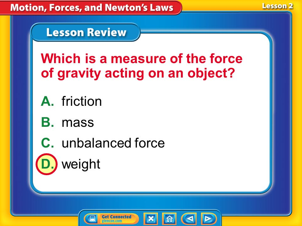 Lesson 2 - VS Balanced forces do not affect motion. Unbalanced forces change motion.