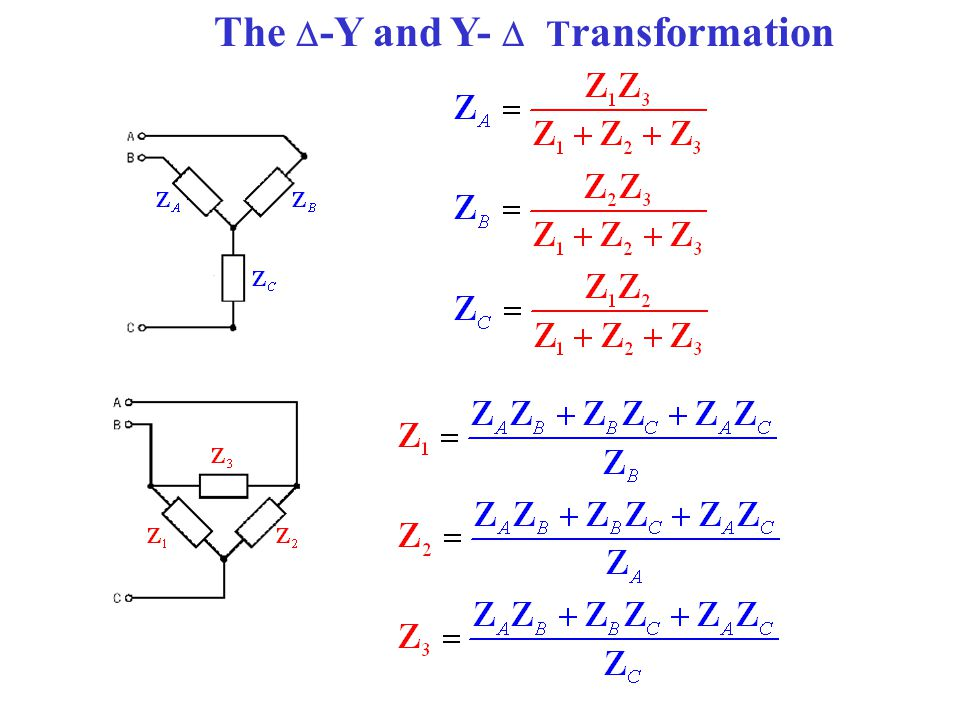 The  -Y and Y-  T ransformation